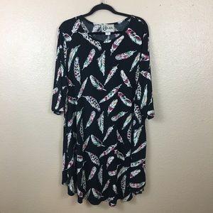 L&B feather dress